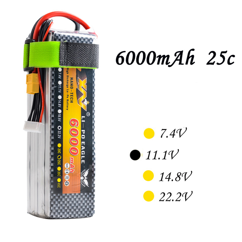 россия платье s 25 max High Quality RC Battery 11.1V 6000mAh 25C Max 55C 3S 3Cells 11.1Volt RC LiPo Li-Poly Battery for Helicopters Quadcopter RC drone
