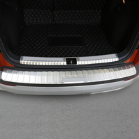 Rear Trunk Boot Bumper Guard Sill Plate Protector Molding Steel For Skoda Karoq 2017 2018 car styling accessories