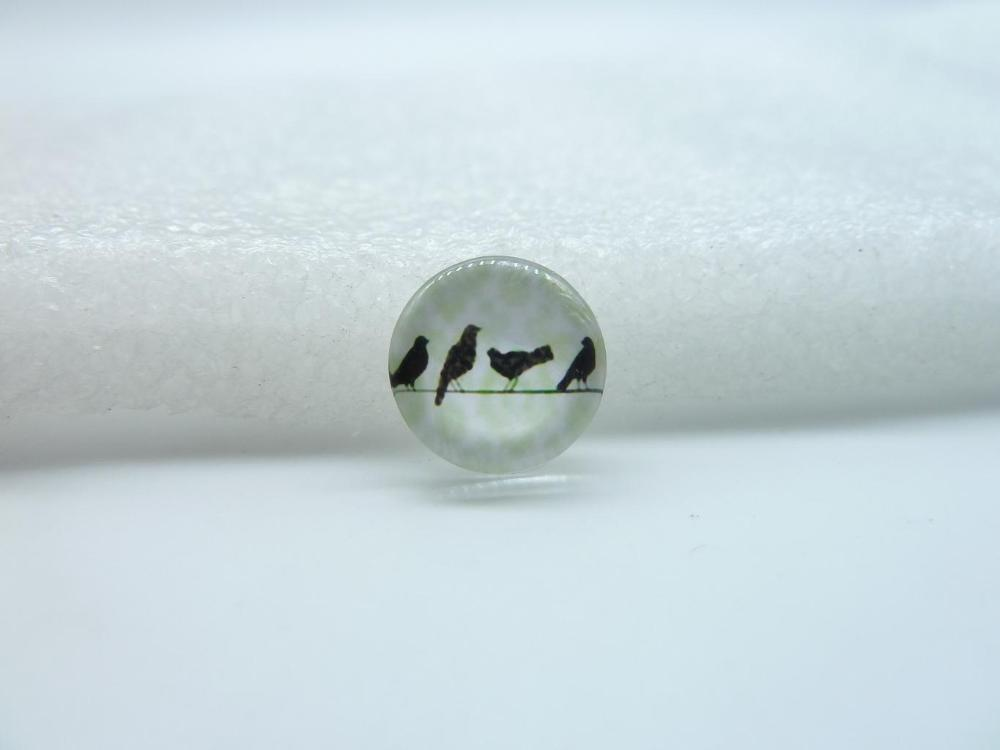 10pcs 12mm Handmade Photo Glass Cabochons(Bird) GB2-12