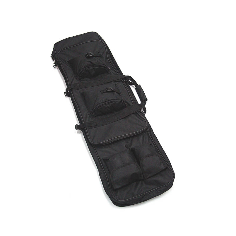 Image 2 - 47 inch 120 CM SWAT Dual Tactical Heavy Duty  Messenger Large Capacity Bag Carrying Case For Rifle Gun Black Wholesale-in Hunting Gun Accessories from Sports & Entertainment