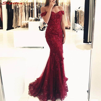Burgundy Mother of the Bride Dresses for Weddings Beaded Mermaid Evening Gowns Groom Godmother Dresses