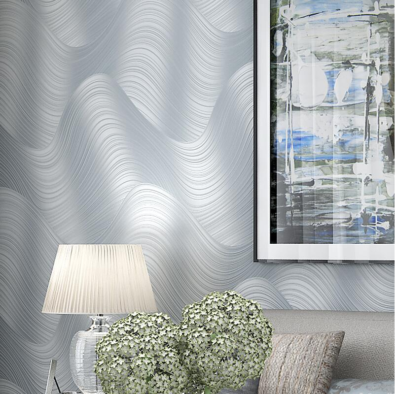 Bon Non Woven 3d Modern Abstract Wave Stripe Wallpaper Tv Bedroom Wallpaper In  Wallpapers From Home Improvement On Aliexpress.com | Alibaba Group
