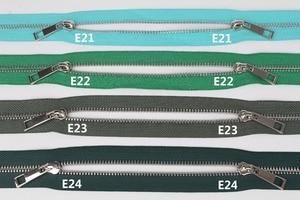 Двойные слайдеры на молнии 5 #, черные, темно-синие, синие, бирюзовые, зеленые, в Военном Стиле