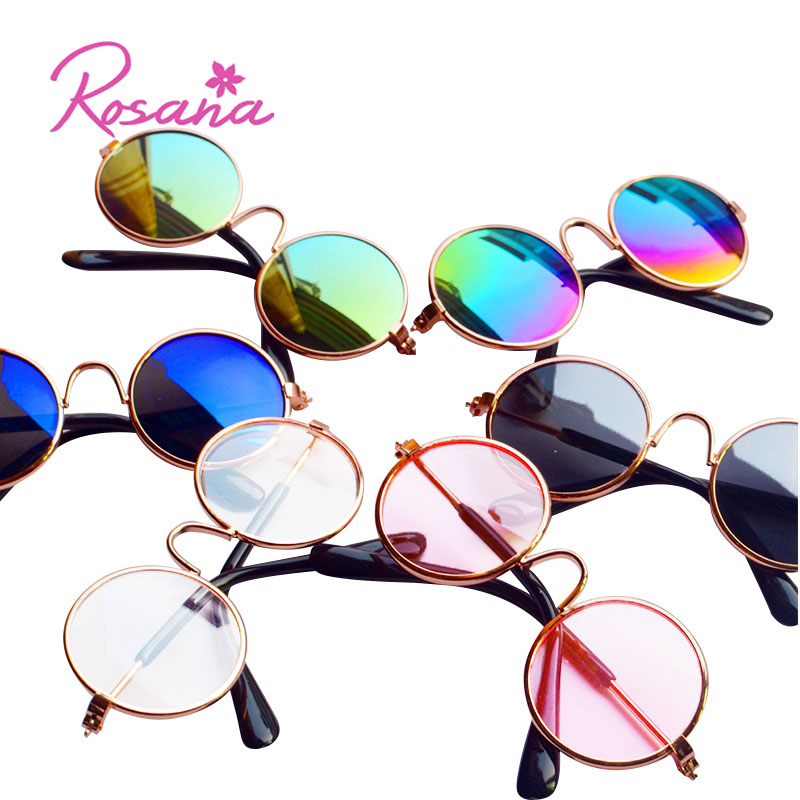 Rosana Doll Fashion Round Eyeglasses Colorful Sun Glasses Cute Toys for Baby Born Girl Dolls& Lovely Pets <font><b>Clothing</b></font> Accessories image