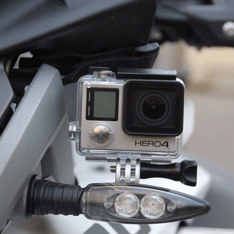KEMiMOTO Front Bracket LED for Go Pro for BMW R1200GS Adventure F800GS R1200R R 1200 GS LC 2013 2014 2015 S1000XR F800 GS