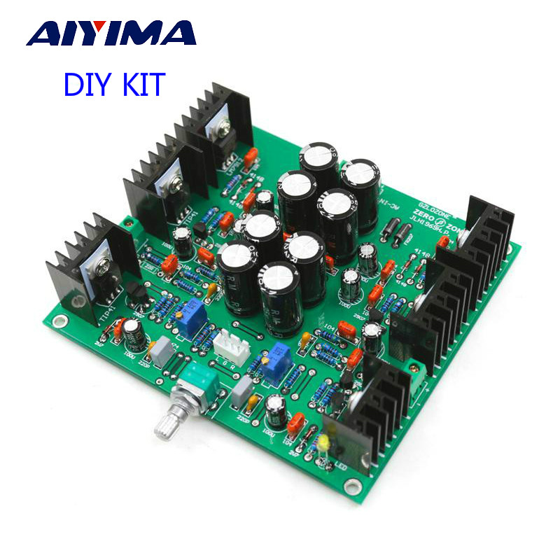 цена на Aiyima JLH HOOD 1969 Class A Headphone Amplifier Small Power Amplifier Pre-amp DIY KITS