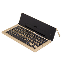 New Portable Mini Wireless Foldable Bluetooth Keyboard Collapsible Keypad Phone Holder For For Windows Android IPhone