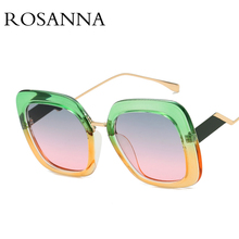 ROSANNA Luxury Oversized Sunglasses Women Brand Designer Colorful Frame Square Sunglasses Vintage High Quality Glasses UV400 поднос декоративный rosanna glasses