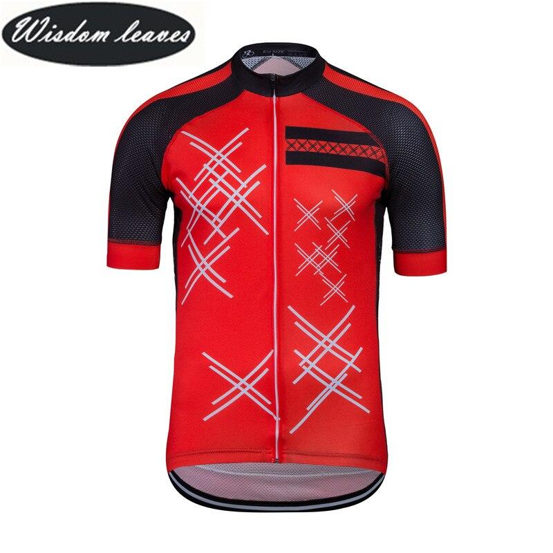 Wisdom Leaves 2019 Designer Brand Men profesional cycling jersey Women Short sleeve bike clothing Team motocross