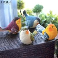 Lifelike Resin Bird Figurines Ornaments Creative Outdoor Gardening Magpie Artware Home Decoration 1 Piece Free Shipping