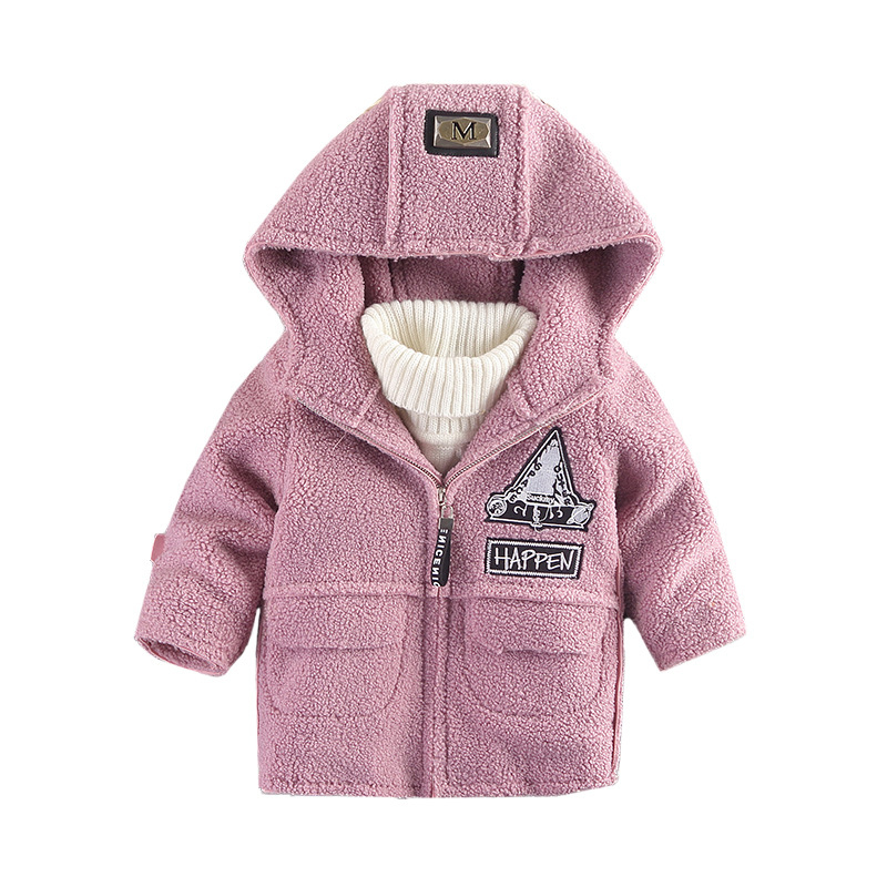 New 2017 Fashion Winter Children Hoodies Jacket & Coat Baby Boys Girls Clothes Kids Outerwear Circle Woolen Warm Coat Age 18M-8T children winter coats jacket baby boys warm outerwear thickening outdoors kids snow proof coat parkas cotton padded clothes