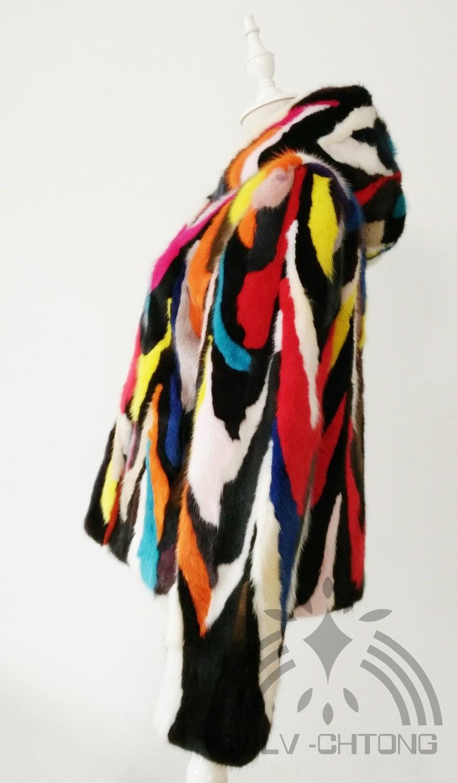 Vison N'importe Quelle Réel Taille Capuche De Coloré Naturel Véritable Outwear Veste Manteau Avec Femmes Personnalisé Fourrure Mode nr6ZXq6xw