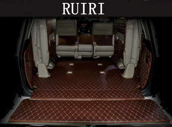Full set car floor mats + full set car trunk mats for Toyota Land Cruiser 200 7 seats 2019-2007 waterproof carpets,Free shipping