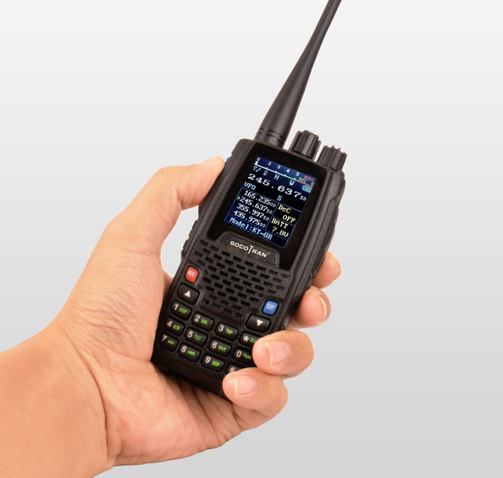 Image 5 - Quad Band Walkie talkie UHF VHF 136 147Mhz 400 470mhz 220 270mhz 350 390mhz 4 Band Handheld Two Way Radio Ham Transceiver  KT 8R-in Walkie Talkie from Cellphones & Telecommunications