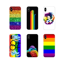 b4a57becd9d Para Apple iPhone X XR XS MAX 4 4S 5 5S 5C SE 6 6 S 7 7 Plus ipod touch 5 6  funda de piel de silicona Gay lesbiana LGBT Arco Iri.