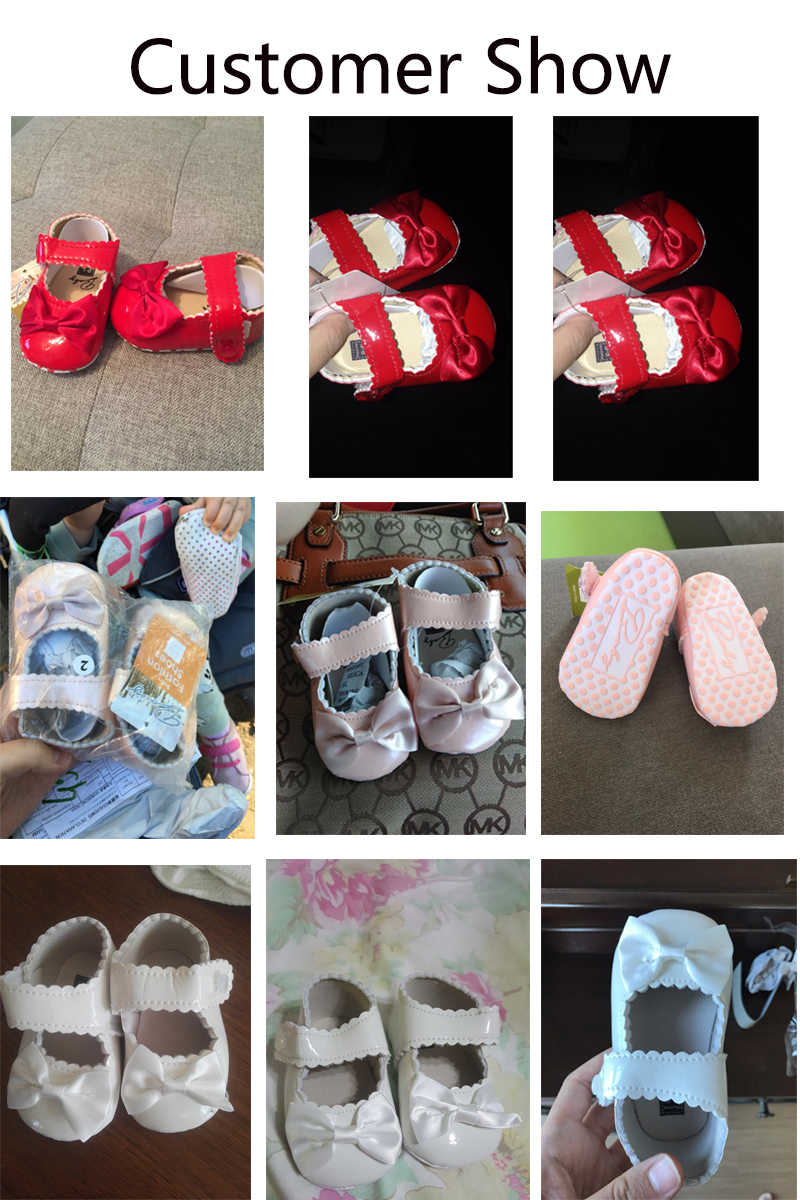 2f00967e3 ... Baby Girl shoes lovely Bowknot Leather 5 color Shoes Anti-Slip Sneakers  Soft Sole toddler ...