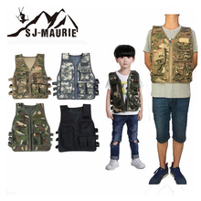 SJ-MAURIE Adult Men Tactical Vest Hunting Vest CS Game Chest Rig Carrier Military Children Training Combat Vest Hunting Clothing h harness chest rig plate carrier tactical vest rifle 5 56 7 62x39 single double pistol flapped gp stuff pouches hunting men
