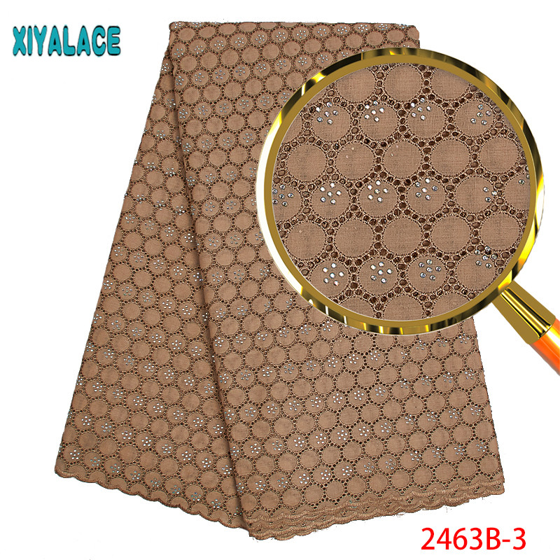 Latest Lace Fabric Swiss Voile Lace In Switzerland High Quailty African Dry Lace Fabric With Stones