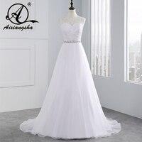 Vestido De Novia 2016 High Fashion A Line Wedding Dresses With Beading Sash And Lace Appliques