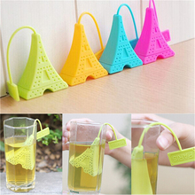 1pcs Silicone Tea Infuser Loose Tea Leaf Strainer Herbal Spice Filter Diffuser Eiffel Tower Shaped Tea Infuser Filter Home Decor