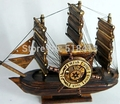 Creative pirate ship gifts crafts furnishing articles New home furnishing articles Smooth sailing Solid wood sailing