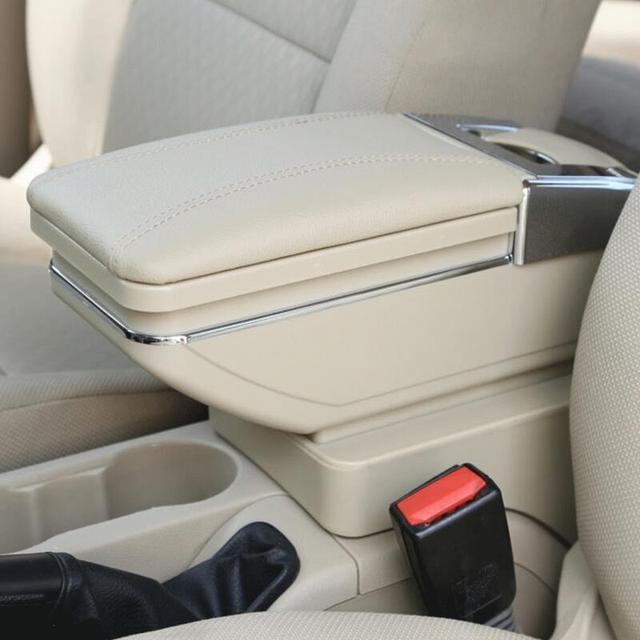 Para Ford Focus 2 caja apoyabrazos central caja del contenido del Almacén de productos de interior accesorios Armrest Storage Center Console