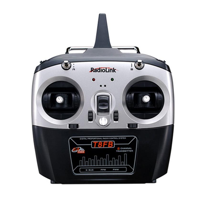 Radiolink T8FB 8 canaux 2.4G multi-axes hélicoptère à voilure fixe modèle RC pour RC hélicoptère RC quadrirotor avion voiture jouets
