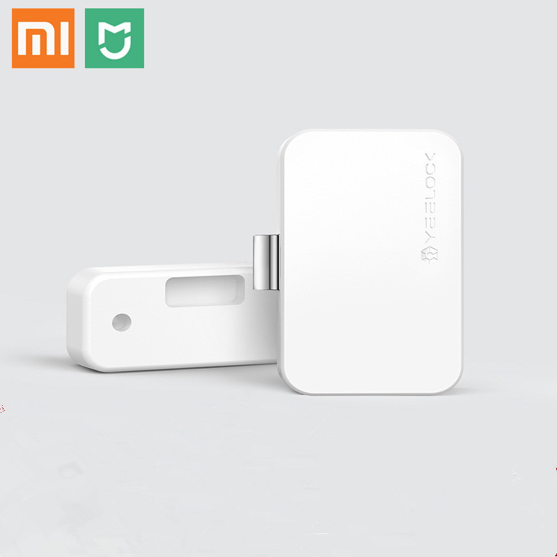 100% Original Xiaomi MIjia YEELOCK Smart Drawer Cabinet Lock Keyless Bluetooth APP Unlock Anti-Theft Child Safety File Security