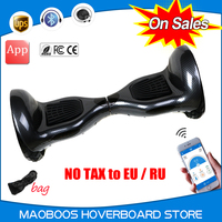 No Tax 10 Inch Smart Electric Scooter With APP Mini Electric Unicycle Skateboard 2 Wheels Standing
