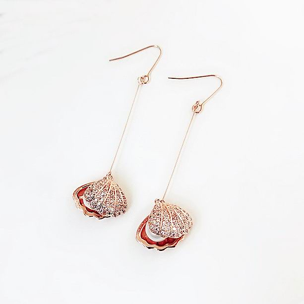 MENGJIQIAO 2018 New Elegant Simple Micro Pave Zircon Shell Earrings For Women Simulated Pearl High Quality Fashion Pendientes