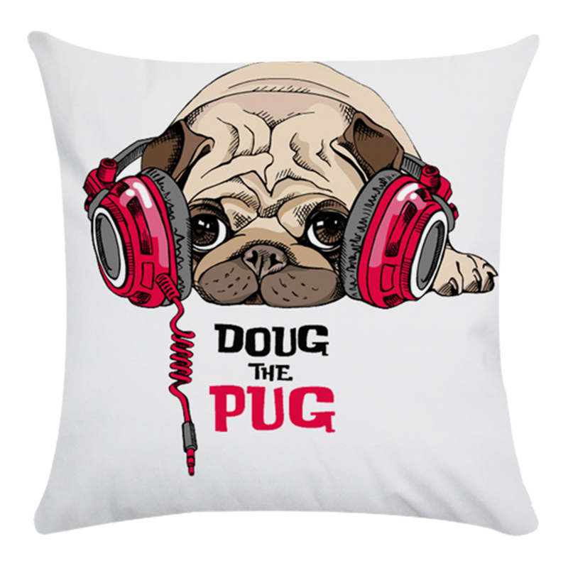 Pillow gift series for pet dogs HomerDecor Cushion Cover Throw Pillowcase Pillow Covers 45 45cm Sofa Seat Cushion Dec in Cushion Cover from Home Garden