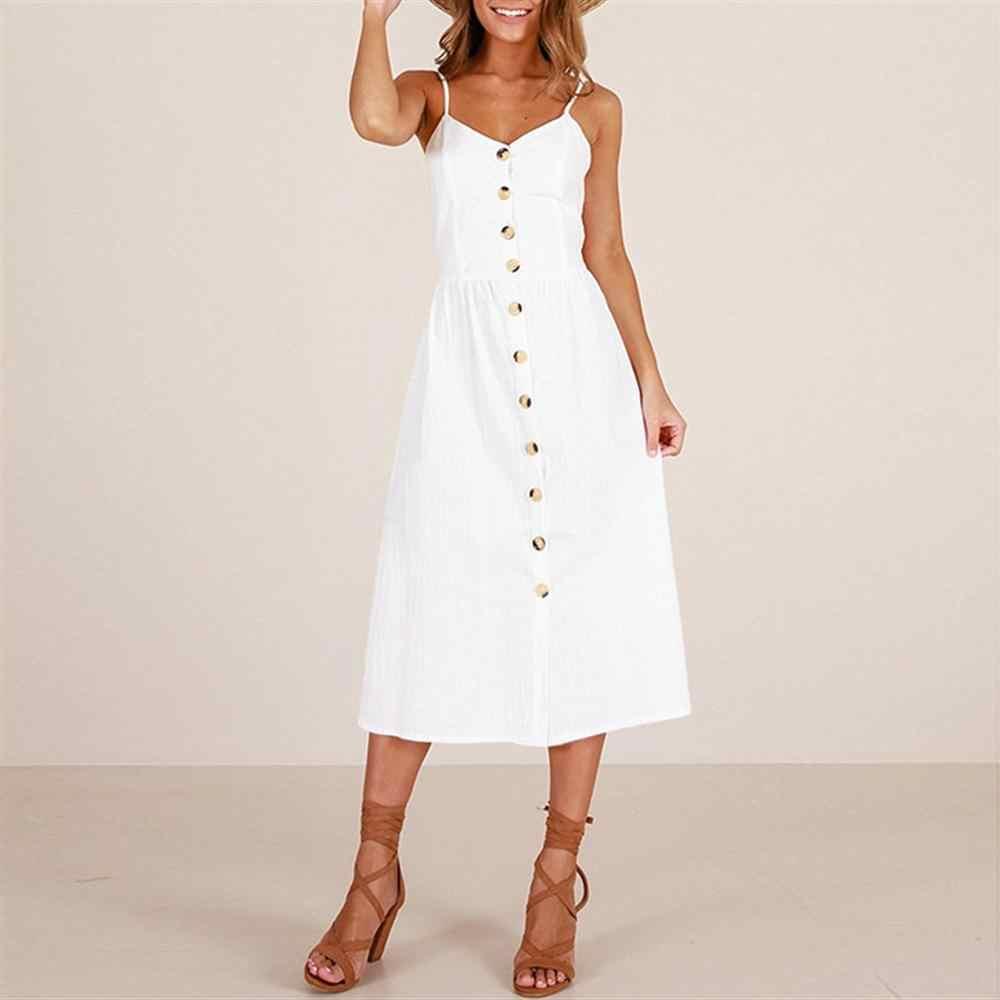 Летнее женское платье 2019 винтажное сексуальное богемное цветочное пляжное платье-туника сарафан с карманом Красное Белое платье в полоску женское