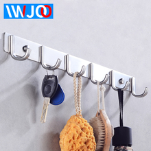 купить Robe Hook Key Stainless Steel Towel Hook Bathroom Hat Bag Coat Hook Rack Wall Mounted Clothes Hook Hangers Bathroom Hardware дешево