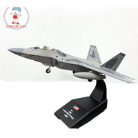 AMER 1/100 Scale USA Airplane Model F 22 F22 Raptor Fighter Diecast Metal Plane Model Toy For Gift/Collection/Decoration