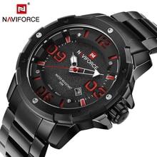 2016 nueva naviforce reloj de cuarzo militar del ejército relojes hombres lujo de la marca completa de acero hombre reloj deportivo reloj de pulsera relogio masculino