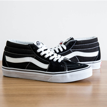 a5f95c1449 Free Shipping vans old skool Classic SK8-Mid classic black and white Unisex  Sneakers shoes