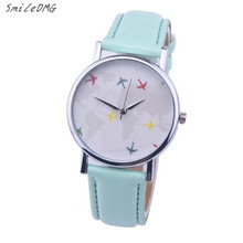SmileOMG Women Watch Fashion Leather Band Metal Analog Vogue Quartz Wrist Watches High Quality Christmas Gift ,Aug 6