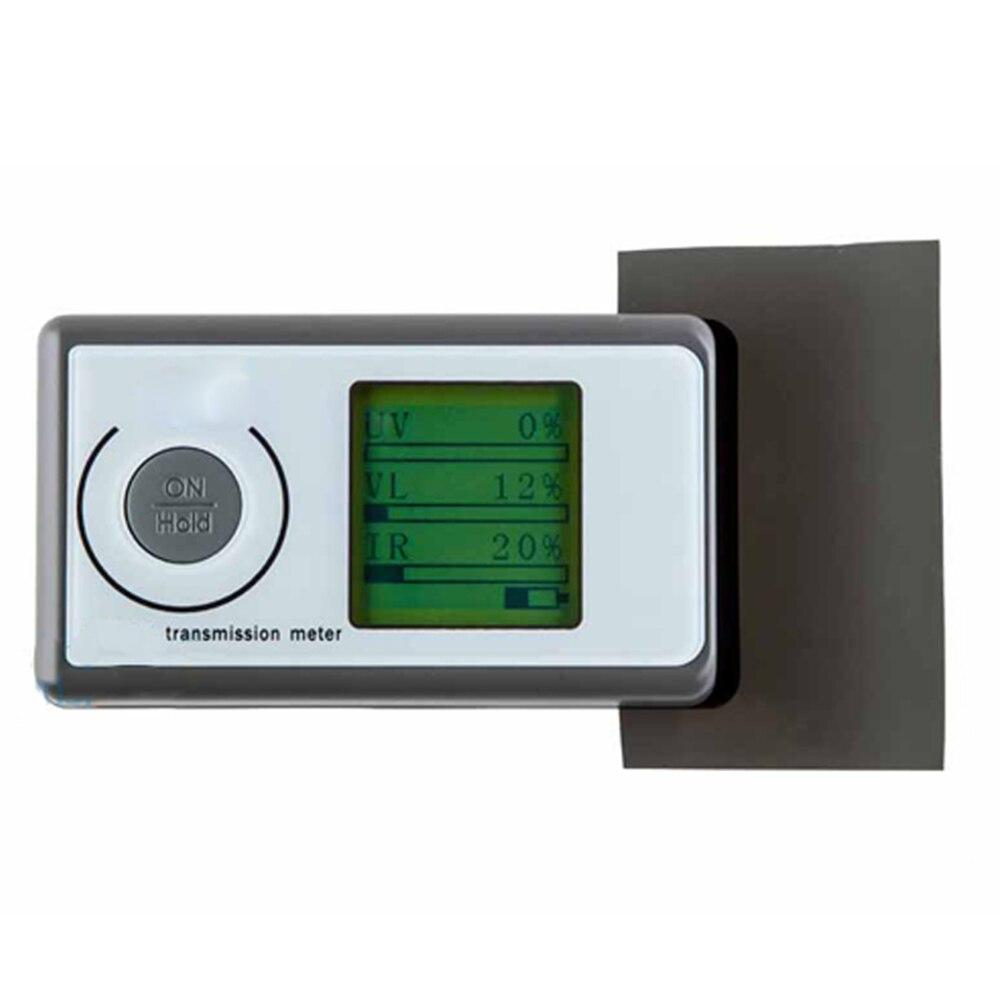 Portable Solar Film Transmission Meter Test Windo3 in 1 Solar Film Transmission Meter Tester Light Transmittance Meter LS160 ls160 solar film tester portable solar film transmission meter measure uv visible and infrared transmission values