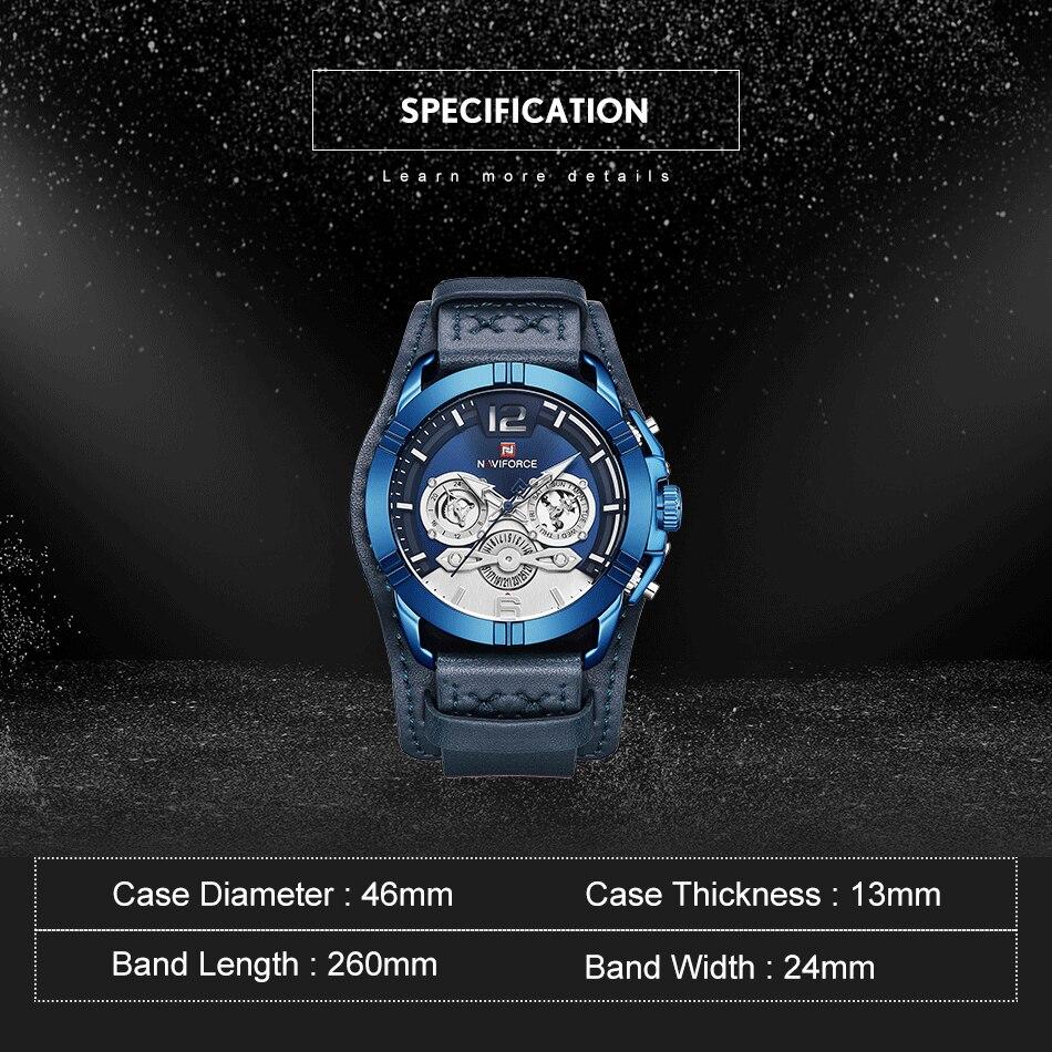 jpg Naviforce Men Watch Leather Army Military Retro Steampunk Sports Male Quartz Watch Wristwatch With Date Hodinky Relojes Hombre (3)