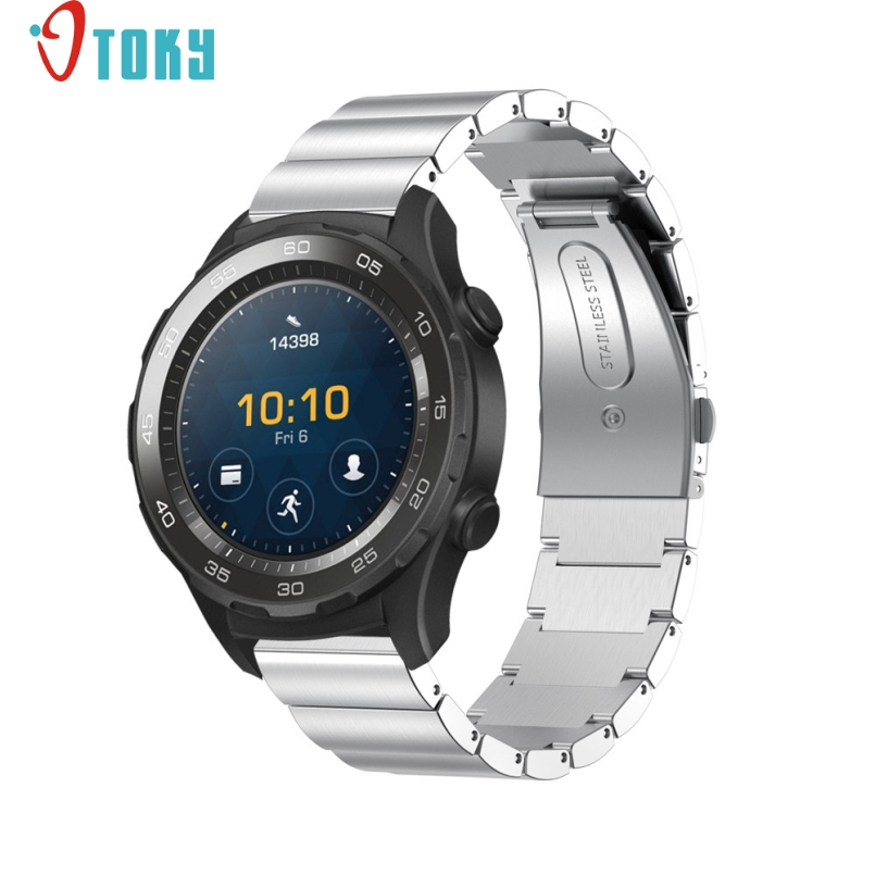 Excellent Quality 20mm For Huawei Watch 2 Genuine Stainless Steel Watchband Metal Band Replacement Smart Watch Bracelet Mar 27