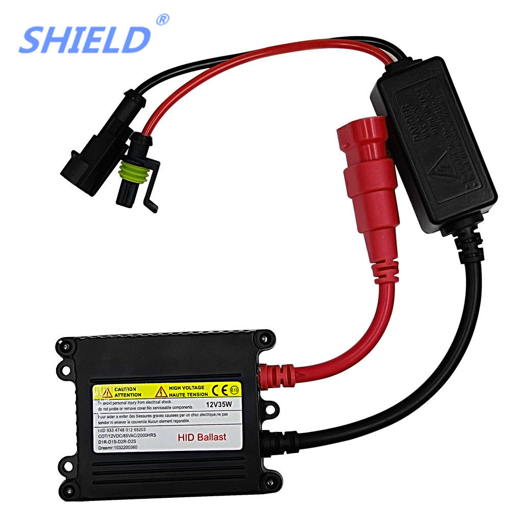 SHIELD 1Pcs 35W 55W DC Xenon Ignition Unit Block H4 H7 H11 H3 9005 9006 880 H13 HID Ballast Car Headlight Electronic Ballasts