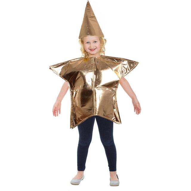 Kinder gold star kostüm fancy dress gold kinder fünf punkte harness ...