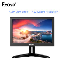 цена на Eyoyo 7 inch Portable 1280x800 HDMI TV Monitor Portable IPS LCD Screen Display AV/USB Input for PC CCTV Camera Monitor