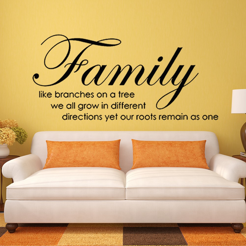Family Like Branches on Tree Wall Stickers Quotes Vinyl Letterings ...