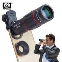 Apexel 18x zoom telescópio lente do telefone móvel para iphone samsung smartphones universal clipe telefon lente da câmera com tripé 18 xtzj