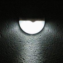 Hight Quality 6 LED Garden Light Solar led Panel Lamp Sensor Waterproof mounted Outdoor Fence Wall Lamp Lighting