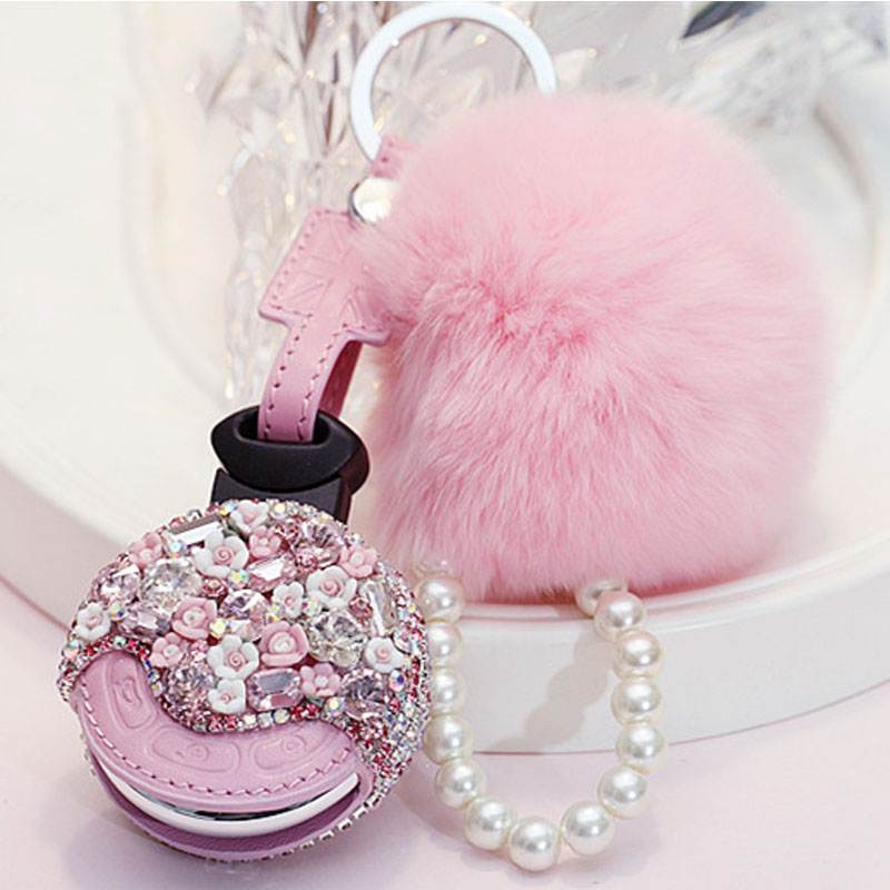 Collection Here Luxury Diamond Flower Car Key Fob Cap Case Cover Protector Holder For Mini Copper R55 R56 R57 R58 R60 R61 Accessories Women Gift