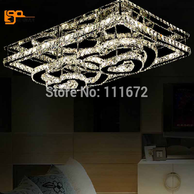 modern flush mount crystal light LED chandelier lustere home lighting free shipping zov