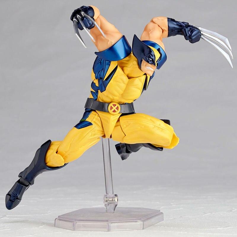 Revoltech Amazing Red Venom Carnage Amazing Captain America Spiderman Magneto Wolverine X-men Action Figures Toy Doll (25)