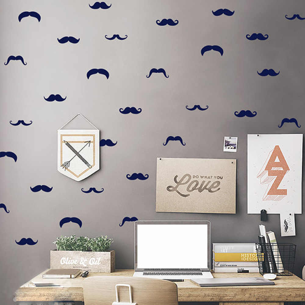 C097 Cute Moustache wall stickers for room decor Vinyl wall decal home decoration wall art sticker